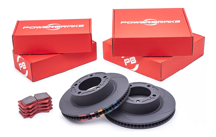 Powerbrake D-Line Disc & Pad Kit
